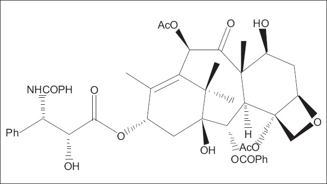 Figure 1: Chemical structure of taxol