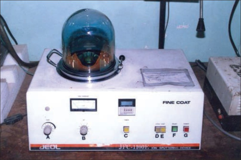 Figure 1: Sputter coating device