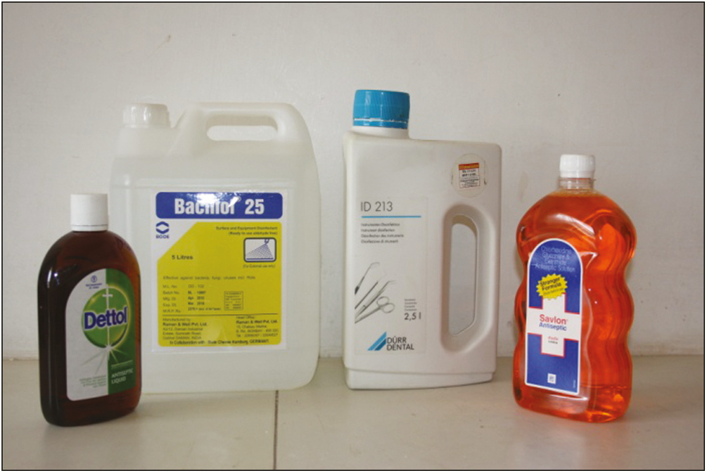 Figure 2: Disinfectants used in the study